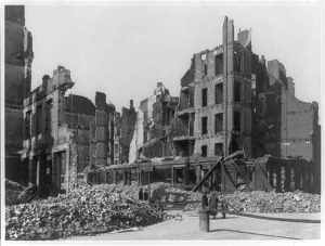 Hamburg after bombing