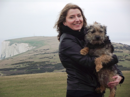 IA and Charlie at Tennyson Down, IoW, March 2013
