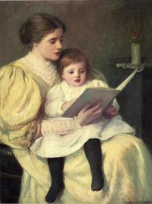 Mother and Child Reading by Frederick Warren Freer