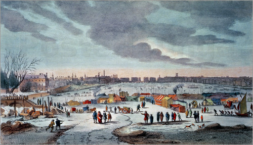Frost Fair on the Thames at Temple Stairs 1684 by Abraham Hondius